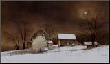 New Moon Mounted Print by Ray Hendershot