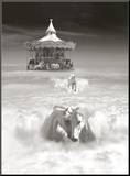 Horsing Around Mounted Print by Thomas Barbey