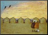 Kites at Dawn Mounted Print by Sam Toft