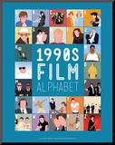 1990s Film Alphabet - A to Z Mounted Print by Stephen Wildish