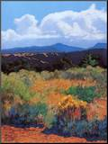 Distant Hills Mounted Print by Mary Silverwood