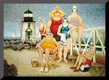 Beach Vacation Mounted Print by Lowell Herrero