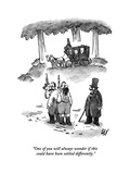 """One of you will always wonder if this could have been settled differently - New Yorker Cartoon Premium Giclee Print by Frank Cotham"
