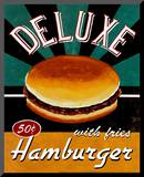 Deluxe Hamburger Mounted Print by Catherine Jones