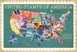 Smithsonian - United Stamps Of America Affiches