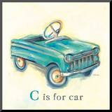 C is for Car Mounted Print by Catherine Richards