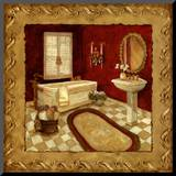 Salon Rouge I Mounted Print by Charlene Winter Olson
