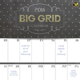 Big Grid Chalk - 2016 Calendar Calendars