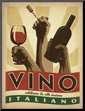 Vino Italiano Mounted Print by  Anderson Design Group