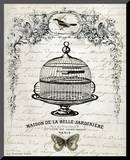 French Birdcage I Mounted Print by Gwendolyn Babbit