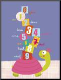 Numbers on a Turtle Mounted Print by Isabelle Jacque