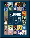 Horror Film Alphabet - A to Z Mounted Print by Stephen Wildish