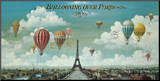 Ballooning Over Paris Mounted Print by Isiah and Benjamin Lane