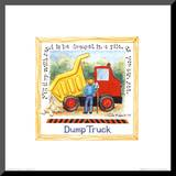 Dump Truck Mounted Print by Lila Rose Kennedy