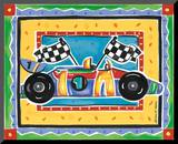 Race Car Mounted Print by Alison Jerry