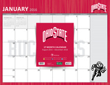 Ohio State University - 2016 17 Month Blotter Calendar Calendari