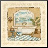 Ocean View Bath II Mounted Print by Charlene Winter Olson