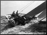 Yacht in Race, 1937 Mounted Print