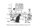 """Remember when, on the Internet, nobody knew who you were?"" - New Yorker Cartoon Premium Giclee Print by Kaamran Hafeez"