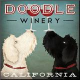 Doodle Wine Mounted Print by Ryan Fowler