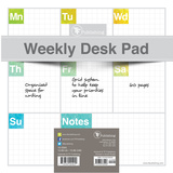 Elements Weekly Desk Pad - Undated Calendars