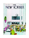 The New Yorker Cover - December 16, 1974 Premium Giclee Print by Charles Saxon