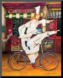 Chefs on the Go Mounted Print by Jennifer Garant