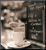 Café, Champs-Élysées Mounted Print by Alan Blaustein