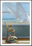 Summer Reading List Mounted Print by Karen Hollingsworth