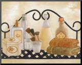 Bath Shelf II Mounted Print by Kay Lamb Shannon