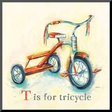 T is for Tricycle Mounted Print by Catherine Richards