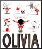 Olivia, Busy Little Piggy Mounted Print by Ian Falconer