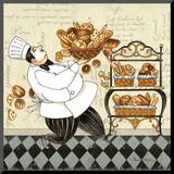 Chef Bread Mounted Print by Pamela Gladding