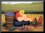 Summer Picnic Mounted Print by Lowell Herrero