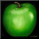 Green Apple Mounted Print by Nelly Arenas