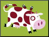 The Cow Mounted Print by Nathalie Choux