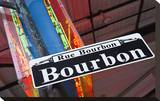 Bourbon Street Sign NewOrleans Stretched Canvas Print