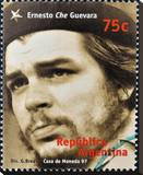 Che Guevara Stamp Argentina'97 Stretched Canvas Print