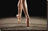 Ballerina Balancing En Pointe Stretched Canvas Print