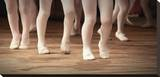 Ballet School Girls on Points Stretched Canvas Print