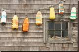 Colorful Buoys in Peggys Cove Stretched Canvas Print
