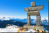 Inukshuk at Whistler Mountain Stretched Canvas Print