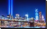 Commemoration Lights Manhattan Stretched Canvas Print