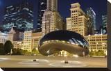 Millennium Park Chicago Cloud Stretched Canvas Print