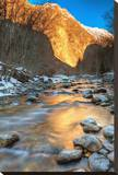 Mountain River in the Alps Stretched Canvas Print