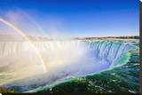 Niagara Falls Rim & Rainbow Stretched Canvas Print