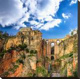 Ronda Village Andalusia Spain Stretched Canvas Print