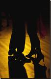 Two Tango Dancers - Backlit Stretched Canvas Print