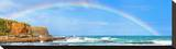 Rainbow over the Sea Panorama Stretched Canvas Print
