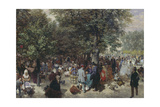 Afternoon in the Tuileries, 1867 Giclee Print by Adolph von Menzel